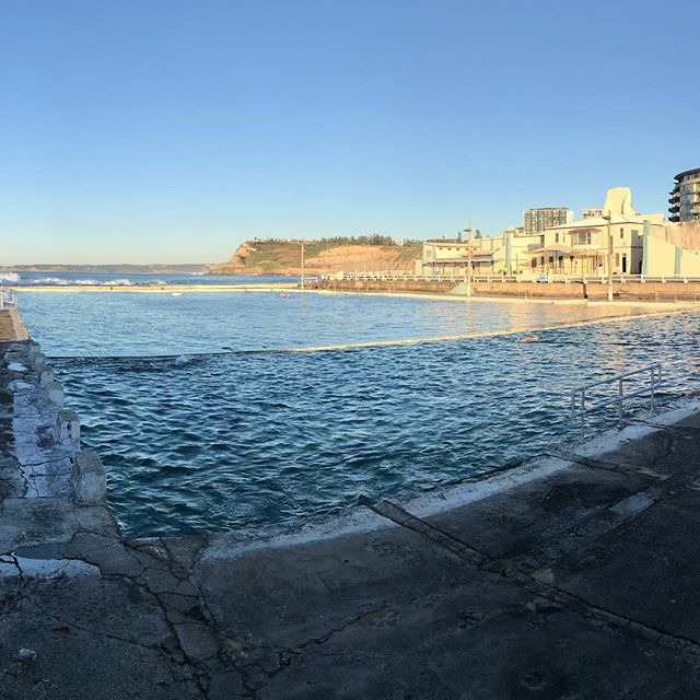 Oh, just down at the Ocean Baths in this morning.