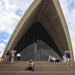 That one time @bronteinmn and I went to the #operahouse in #Sydney. I ️Australia